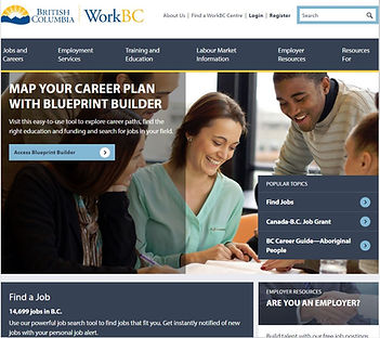 WorkBC website