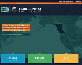 Trade and Invest British Columbia website