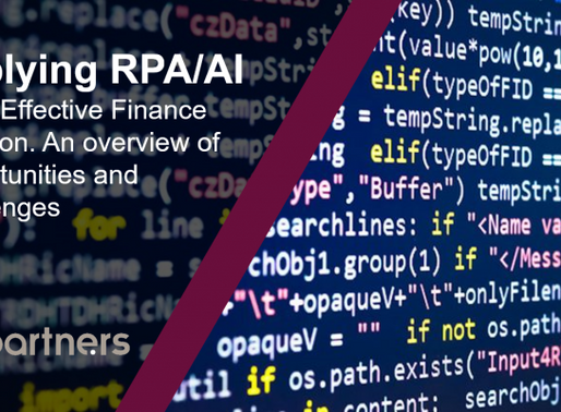 Applying RPA/AI to the Effective Finance Function. An overview of Opportunities and Challenges