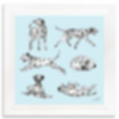 Laura Watkins Illustration Art Prints Dog Greyhound Great Dane Art Sketch Drawing Handmade Shop London Unique Gift Greyhounds Race Love Snow Christmas