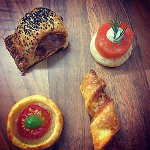 Canapés from Saturday evening, delivered