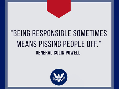 RESPONSIBILITY & PISSING PEOPLE OFF