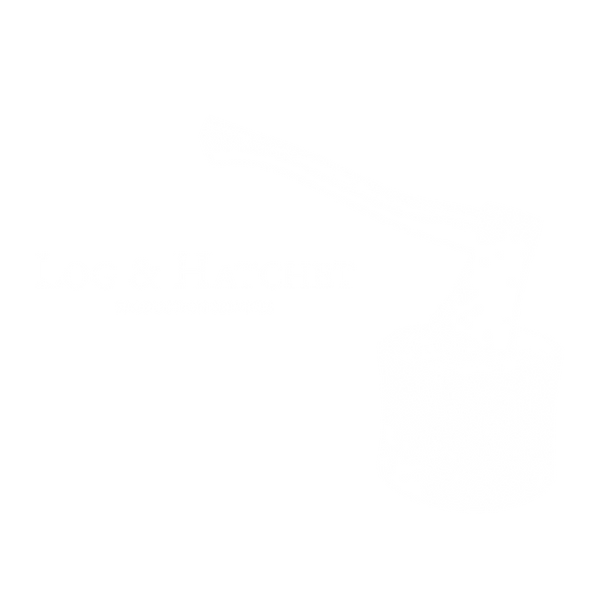 Log and Hatchet Logo Transparent White.p