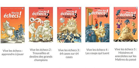 La collection des 5 livres Vive les échecs !