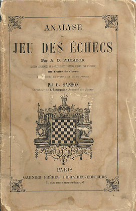 Jeu des échecs - Philidor - 1871