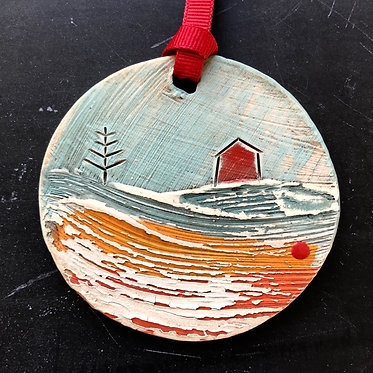 Little beachscape ornament