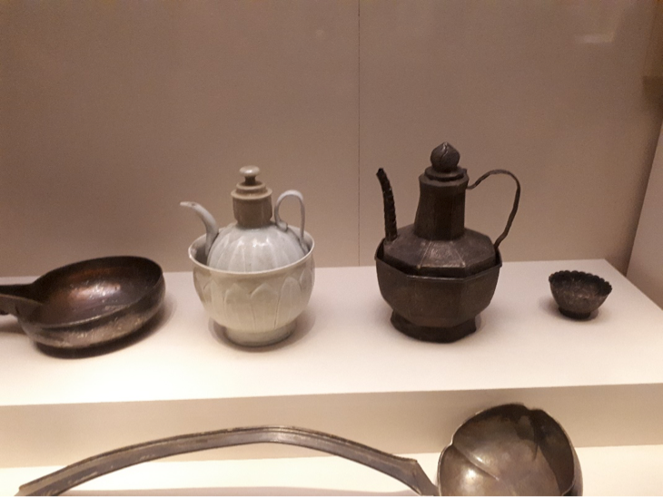 Beautiful pots (both porcelain and metal) in the national museum in Beijing.