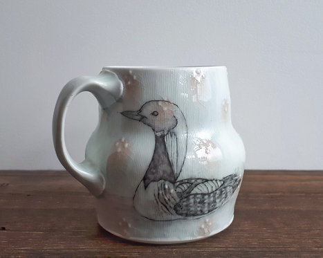 katy drijber arctic loon mug