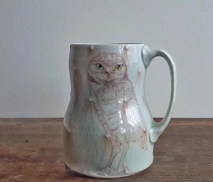 katy drijber burrowing owl large mug