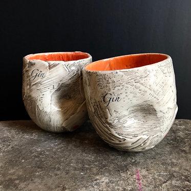 Gin cups (pair)