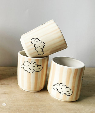 Pink Striped Cloud Cups