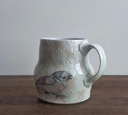 katy drijber gray jay trickster mug