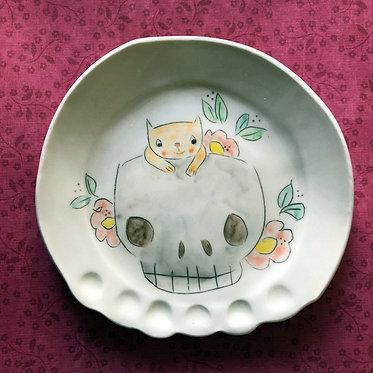 Carole Epp - Cat and Skull plate
