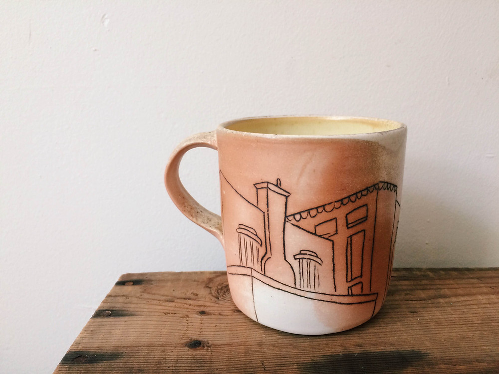 Wood fired mug by Emma Smith