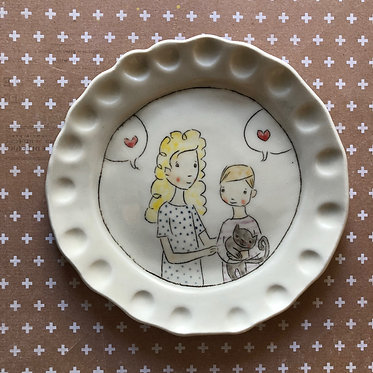 Carole Epp - Can we keep him? plate