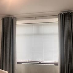Eyelet headed curtains