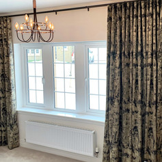 Metropole and wave headed curtains
