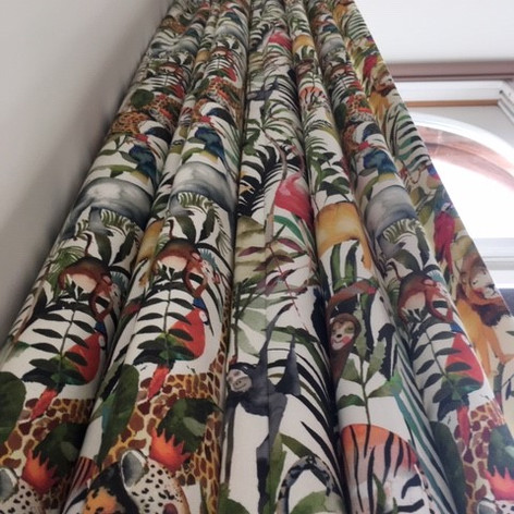 Pencil pleat  headed curtains