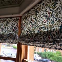 Bay window roman blinds