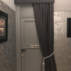 Door curtain and pelmet