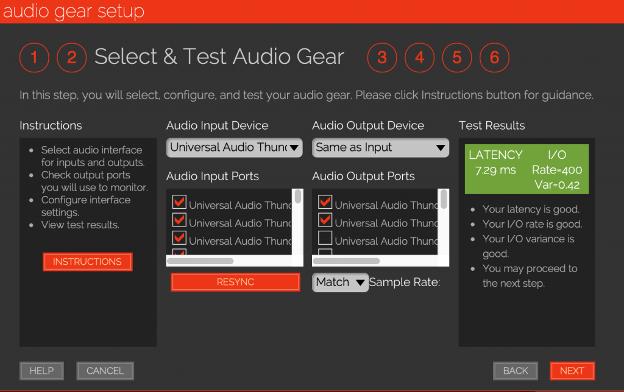 JamKazam test audio gear