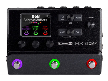 Compact Amp Modeller with Effects for Guitar: HX Stomp and Gigboard