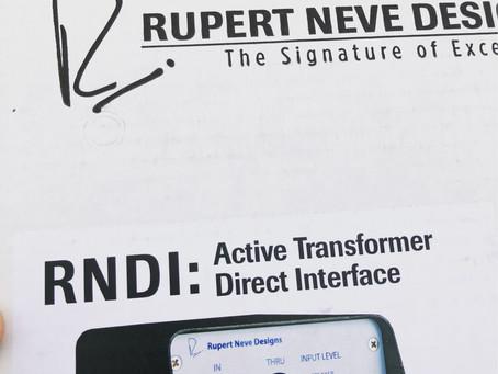 Rupert Neve DI the ultimate guitar tone