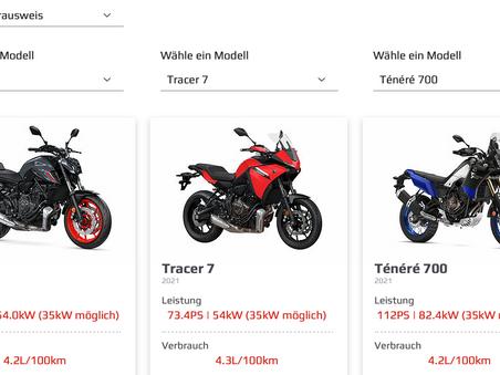 Vergleiche die aktuellen Yamaha Modelle