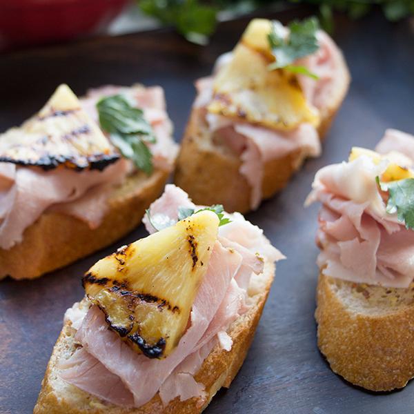 Modena Ham & Grilled Pineapple Canapés