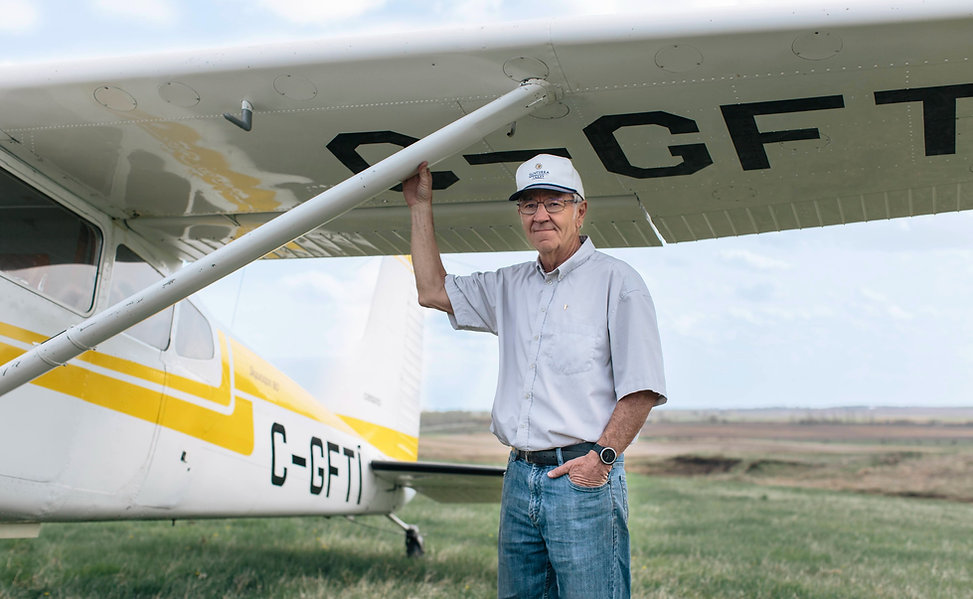 Dave Price with Plane
