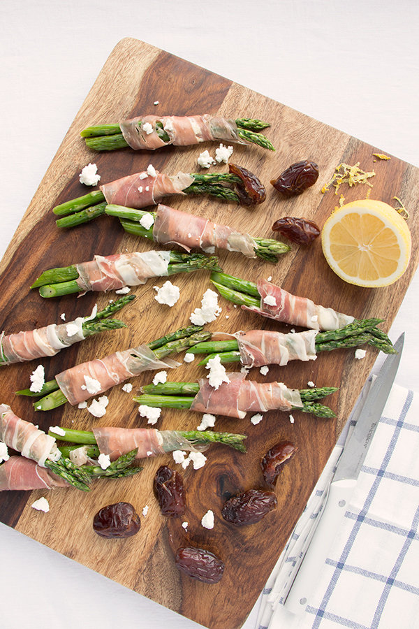 Prosciutto, Goat Cheese and Fig Wrapped Asparagus