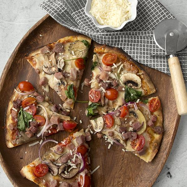 Prosciutto & Mushroom Pizza