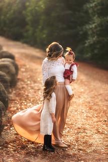 Family photo session at Dallas Arboretum
