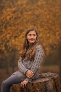Young girl at Grapevine Botanical gardens Texas