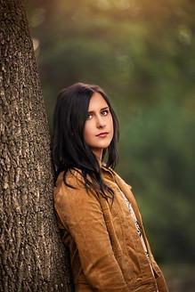 High school girl during senior photos in Dallas at whiterock lake