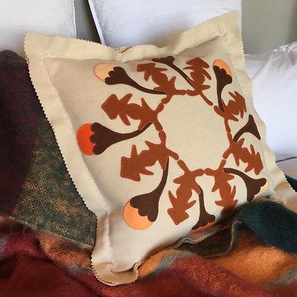 Autumn Tivaevae Applique & Embroidery Cushion Kit