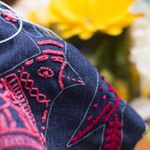 BIRDIE FREE RANGE BLUE DENIM PATCHES