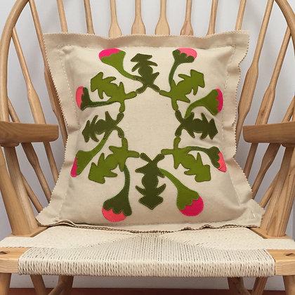 Spring Tivaevae Applique & Embroidery Cushion  Kit