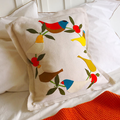 Sun Bird Wool Applique & Embroidery Cushion Kit