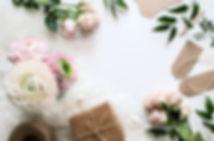 Registration of a wedding gift. Beautifu