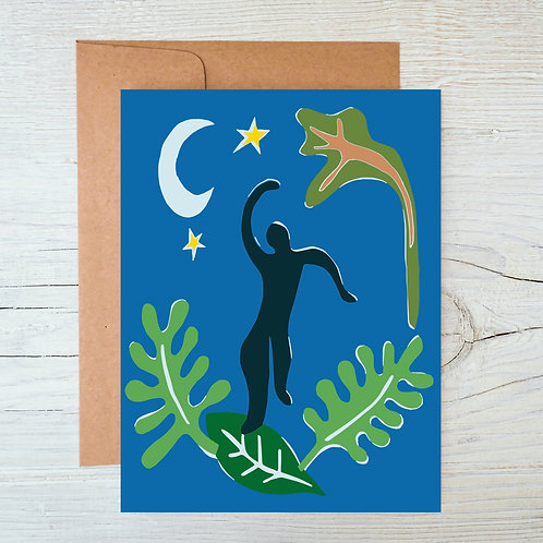 Moonlight Dancer A6 Blank Card