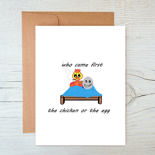 Chicken or the Egg A6 Blank Card