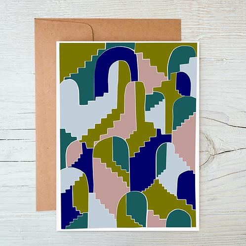 Stairs and Arches A6 Blank Card