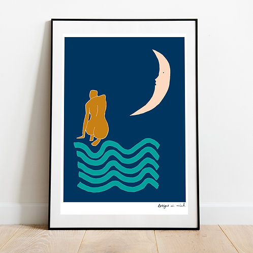 A3 Print - Moonlight, Starry Night Collection