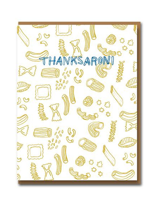 Thanksaroni - Greeting Card