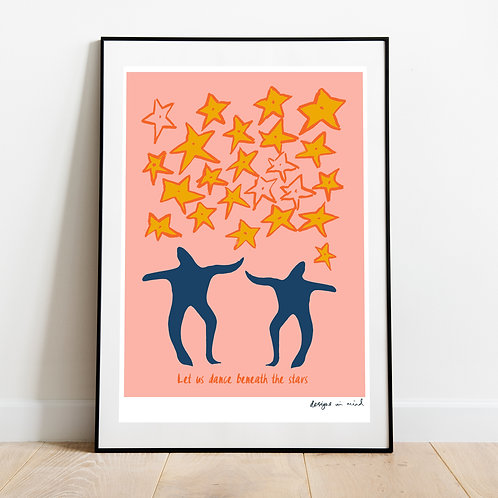 A3 Print - Dance beneath the stars, Starry Night Collection