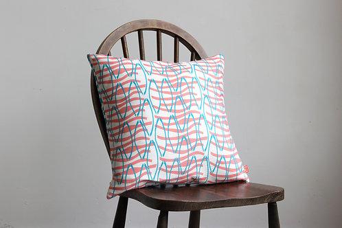 Cushion Reflection Design Coral