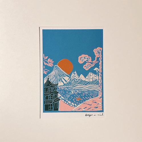 A6 Print - Rising Sun, Japan Collection