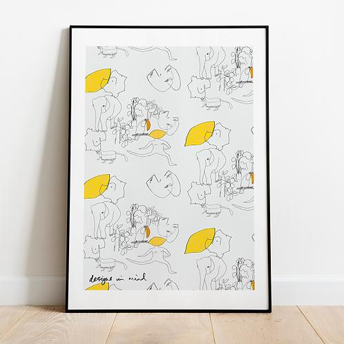 Printable A4 Fauna Illustration Artwork