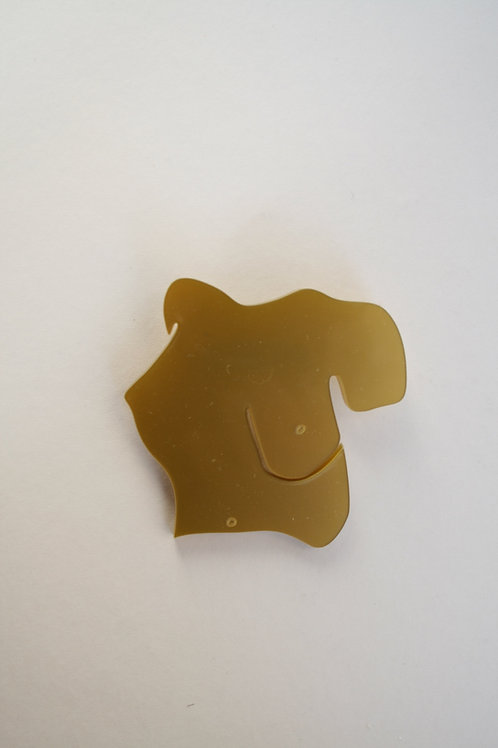 Gold Bust Brooch